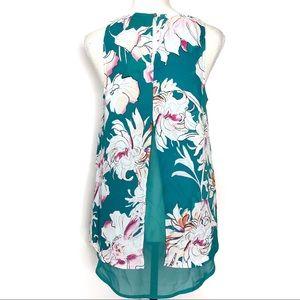 RACHEL Rachel Roy Tops - Label Rachel Roy Floral Sleeveless Top